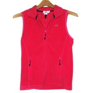 Vineyard Vines Coral Zip Front Fleece Vest XS